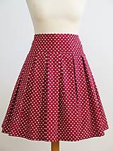 Sukne - srdiečková sukňa - pre mamu a dcéru - 8747323_