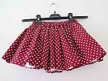 Detské oblečenie - detská srdiečková sukňa - 8747420_