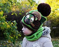 Detské čiapky - Macko vojačik - 8748942_