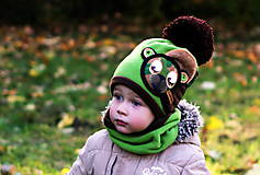 Detské čiapky - Macko vojačik - 8748943_