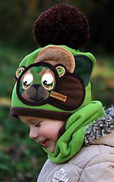 Detské čiapky - Macko vojačik - 8748946_