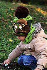 Detské čiapky - Macko vojačik - 8748947_
