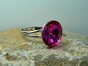 Prstene - Prsteň s krištálom - 8749655_