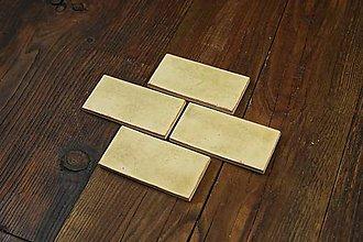 Dekorácie - Keramické obkladačky žlto hnedé - 8746845_
