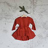 - Detské ľanové vianočné šaty (3-4 r) - 8747555_