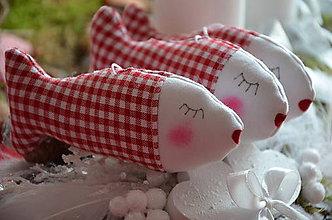 Dekorácie - Rybičky vianočné - 8749107_