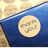 Papier - Nálepka thank you ( 6 ks) 3 cm - 8748907_