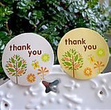 Papier - Nálepka thank you (6 ks) 3,5 cm - 8748954_