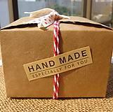 Nálepka hand made (10 ks) 5,5 x 1,5 cm