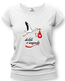 Tehotenské/Na dojčenie - Doletí v ... - tehotenské tričko - 8748647_