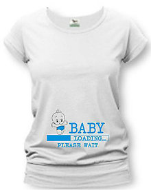Tehotenské oblečenie - Baby loading - tehotenské tričko - 8748835_