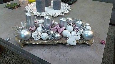 Materiál ručne robený - Adventny svietnik - 8747623_