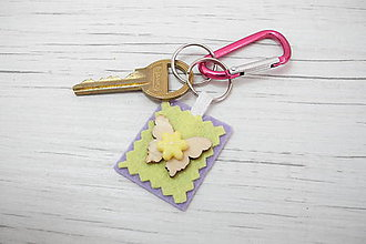 Kľúčenky - Klúčenka - Motýlik (žltý) - 8748855_