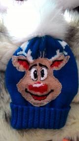 Detské čiapky - Čiapka so sobíkom - 8747033_