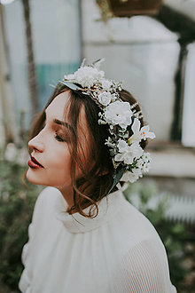"""Ozdoby do vlasov - Svadobný venček """"okno do duše"""" - 8746823_"""