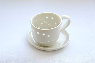 Nádoby - Madeirová espresso šálka Vlnky - 8748123_