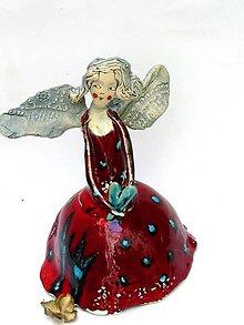 Socha - anjel červený originál - 8747804_