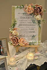 Darčeky pre svadobčanov - Svadobná ďakovná tablička - 8748832_