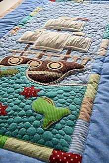 Úžitkový textil - Pirátska loď...prehoz- skladaná plachta - 8744972_