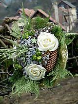 Dekorácie - Vianočná kytica - 8754059_