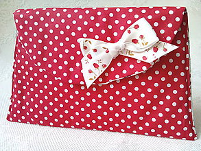 Taštičky - BonBon pochette (red/white dots) - 8754223_