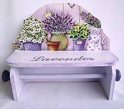 Nábytok - Polička -Lavender - 8754847_