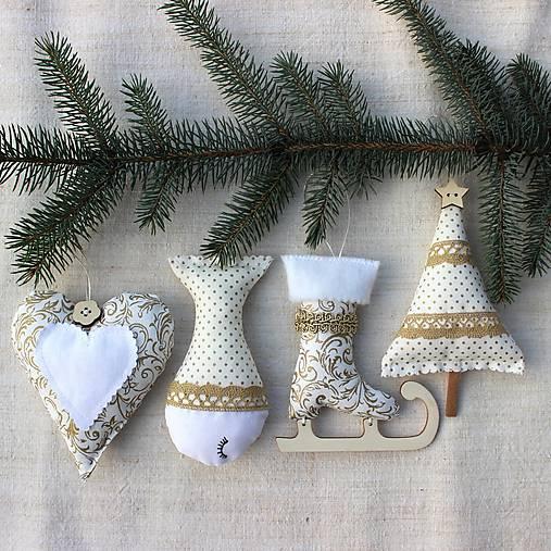 Sada vianočných ozdôb ♥ Zlatá