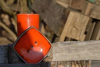 Nádoby - Mydelnička oranžová  set