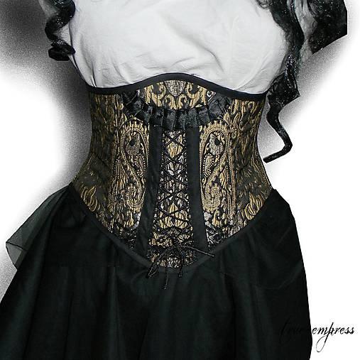 65d3d32d48e0 Gotický brokátový korzet   true-empress - SAShE.sk - Handmade Šaty
