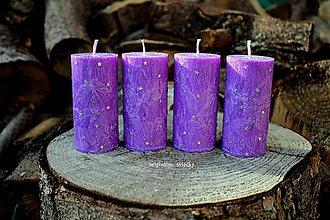 Svietidlá a sviečky - Fialové adventné - 8752300_