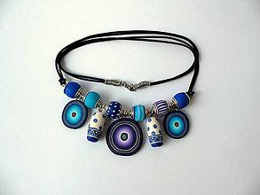 Náhrdelníky - ,,Tyrkys-fialový,, - 8750500_
