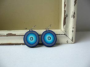Náušnice - ,,Modroočky,, - 8750504_