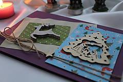 Vianočná pohľadnica fialová