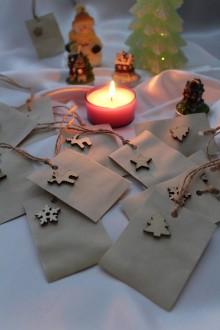 """Papiernictvo - Vianočné visačky na darčeky """"Natur"""" - 8752929_"""