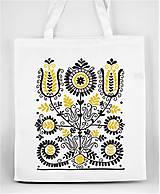 Nákupné tašky - Nákupná taška kvety ľudový motív 02 - 8753393_
