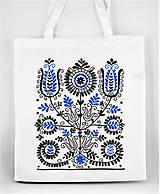 Nákupné tašky - Nákupná taška kvety ľudový motív 02 - 8753395_