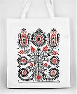 Nákupné tašky - Nákupná taška kvety ľudový motív 02 - 8753397_