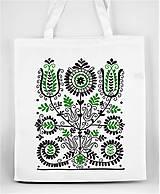 Nákupné tašky - Nákupná taška kvety ľudový motív 02 - 8753398_