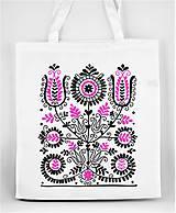 Nákupné tašky - Nákupná taška kvety ľudový motív 02 - 8753403_
