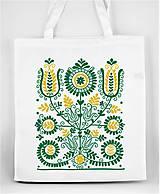 Nákupné tašky - Nákupná taška kvety ľudový motív 02 - 8753404_