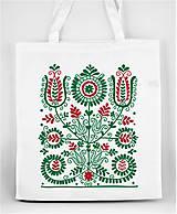 Nákupné tašky - Nákupná taška kvety ľudový motív 02 - 8753405_