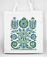 Nákupné tašky - Nákupná taška kvety ľudový motív 02 - 8753407_