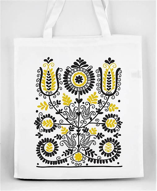 Nákupná taška kvety ľudový motív 02