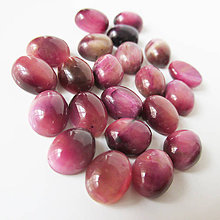 Minerály - Tigrie oko / kabošon 8x10mm (ArtDeco Red) - 8752873_