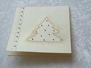 Papiernictvo - Pohľadnica - vianočne zlatomodro - 8752847_