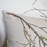 Úžitkový textil - Vankúš - smrekovec opadavý - 8751179_
