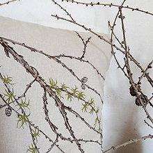 Úžitkový textil - Vankúš - smrekovec opadavý - 8751180_