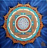 Obrazy - Mandala rovnováhy Sri Yantra - 8751844_