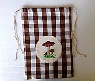 Úžitkový textil - Pytlíček na sušené hříbky. - 8754114_