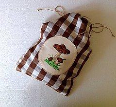 Úžitkový textil - Pytlíček na sušené hříbky. - 8754115_
